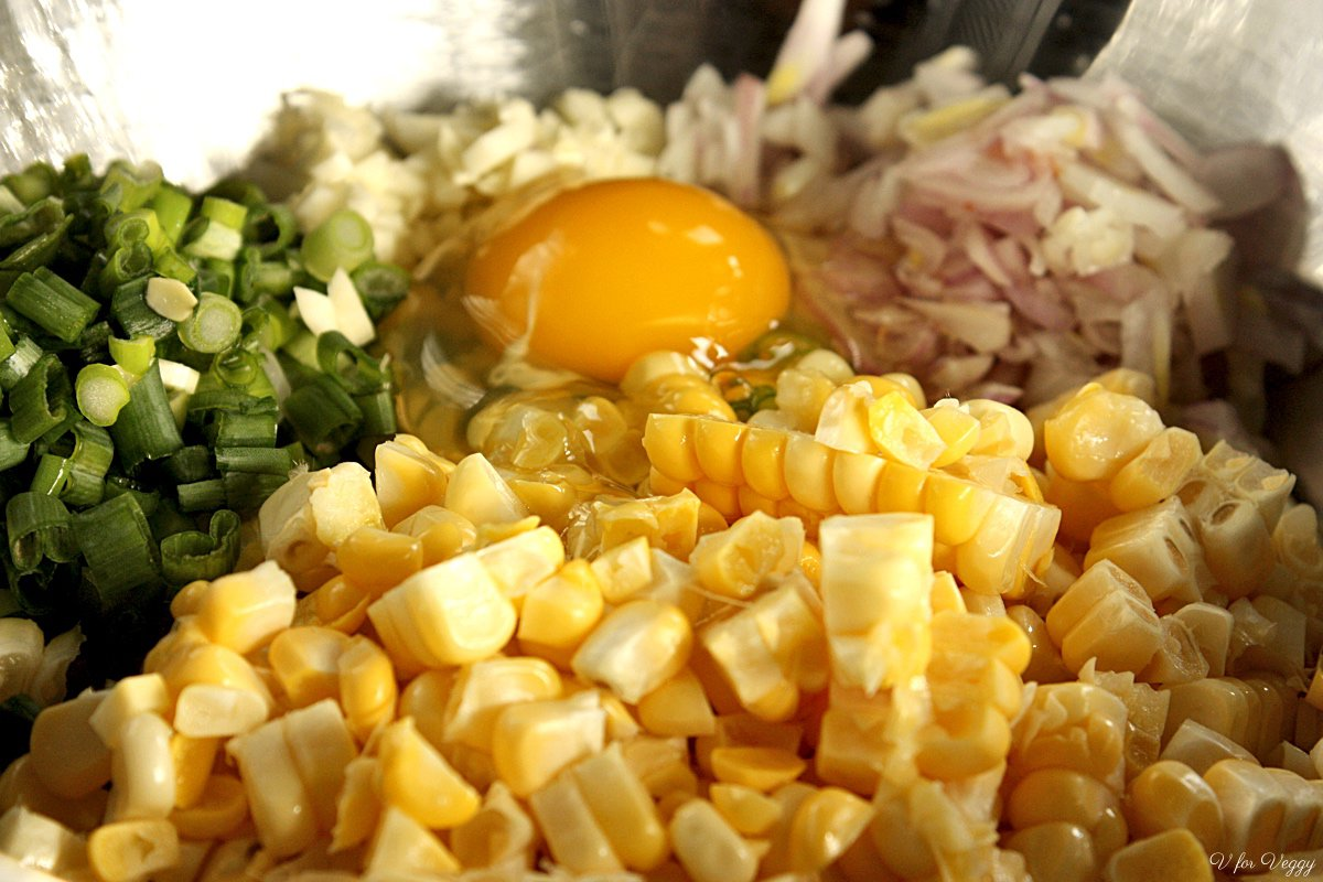 Ingredients for Corn Fritters