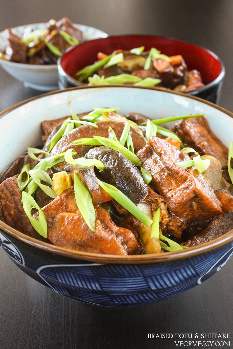 Braised Tofu and Shiitake