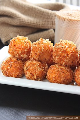 Oven Baked Sweet Potato Balls