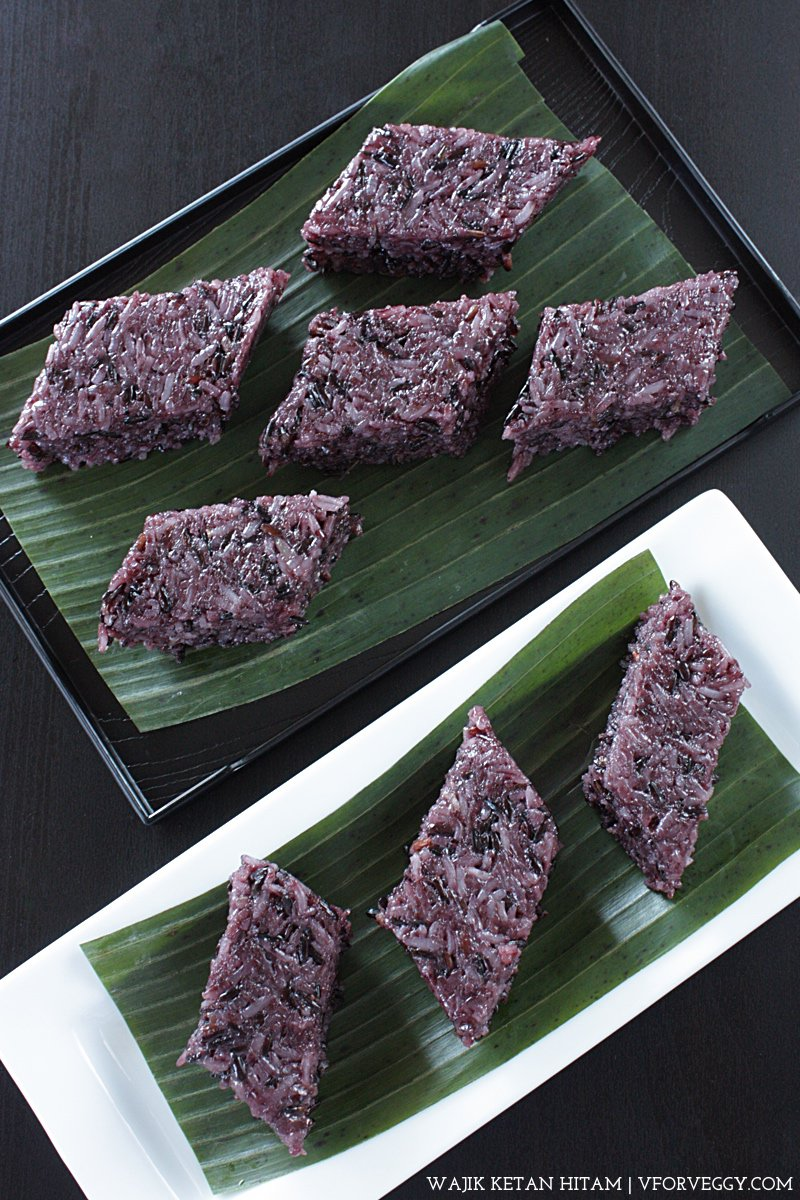 Wajik Ketan Hitam (Indonesian Sticky Rice Cake)