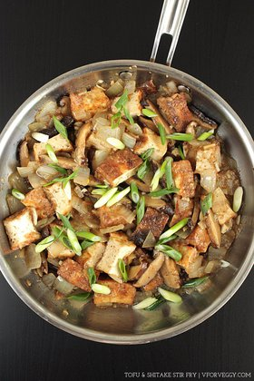 Tofu and Shitake Stir Fry