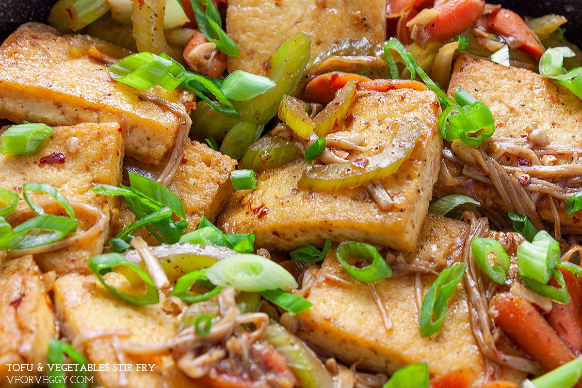 Easy Chinese Tofu & Vegetables Stir Fry