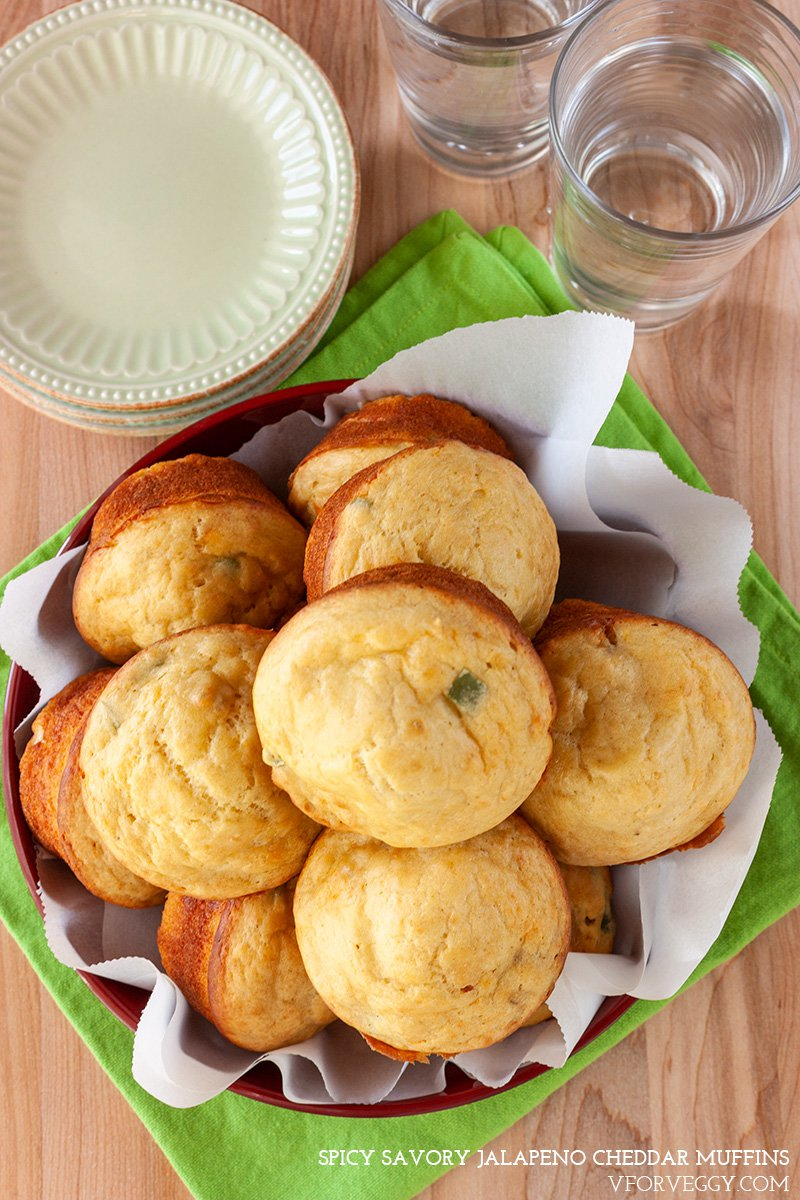 Spicy Jalapeno Cheddar Muffins