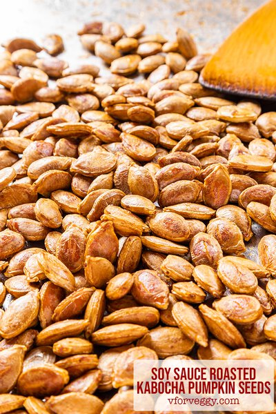 Soy Sauce Roasted Kabocha Pumpkin Seeds